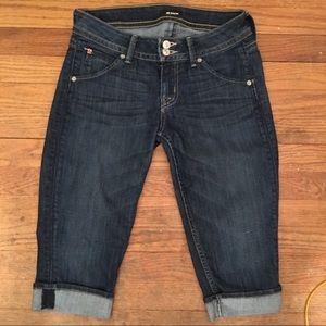 Hudson Malibu Cuffed Jean - 28 dark denim , cuffs